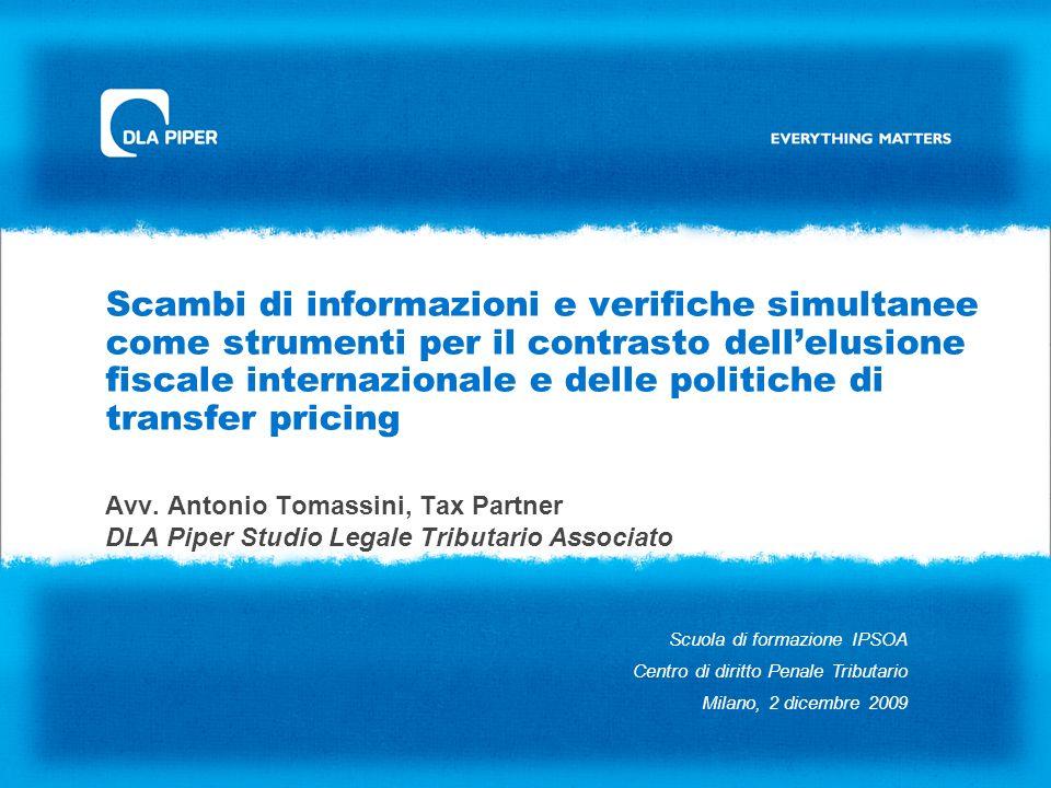 Scambi di informazioni e verifiche simultanee come strumenti per il contrasto dellelusione fiscale internazionale e delle politiche di transfer pricin