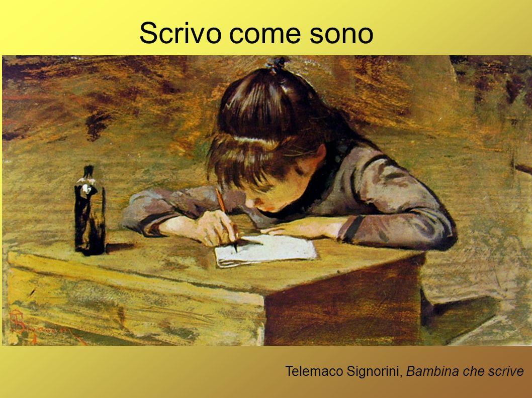 Telemaco Signorini, Bambina che scrive Scrivo come sono