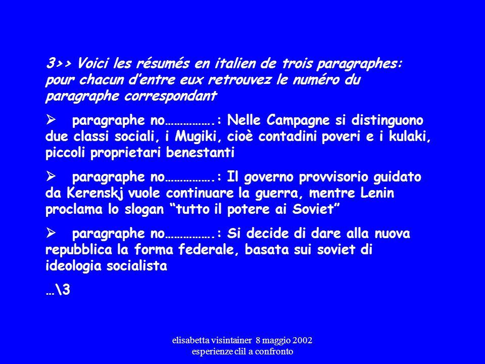 elisabetta visintainer 8 maggio 2002 esperienze clil a confronto titresparagraphe a.Des révoltes contre la monarchie b.En 1921, un pays exangue c.La c