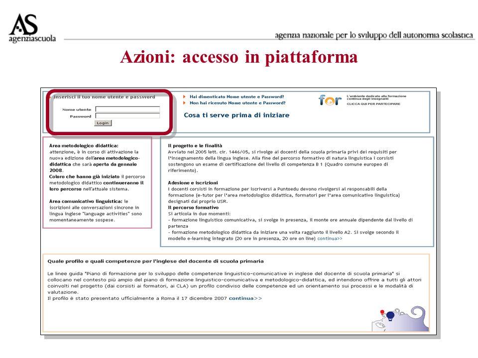 Dettagli utente area metodologico didattica 2008 (modificabili/visibili durante la formazione) Per validare le attività del corsista basta cliccare il titolo del modulo formativo.