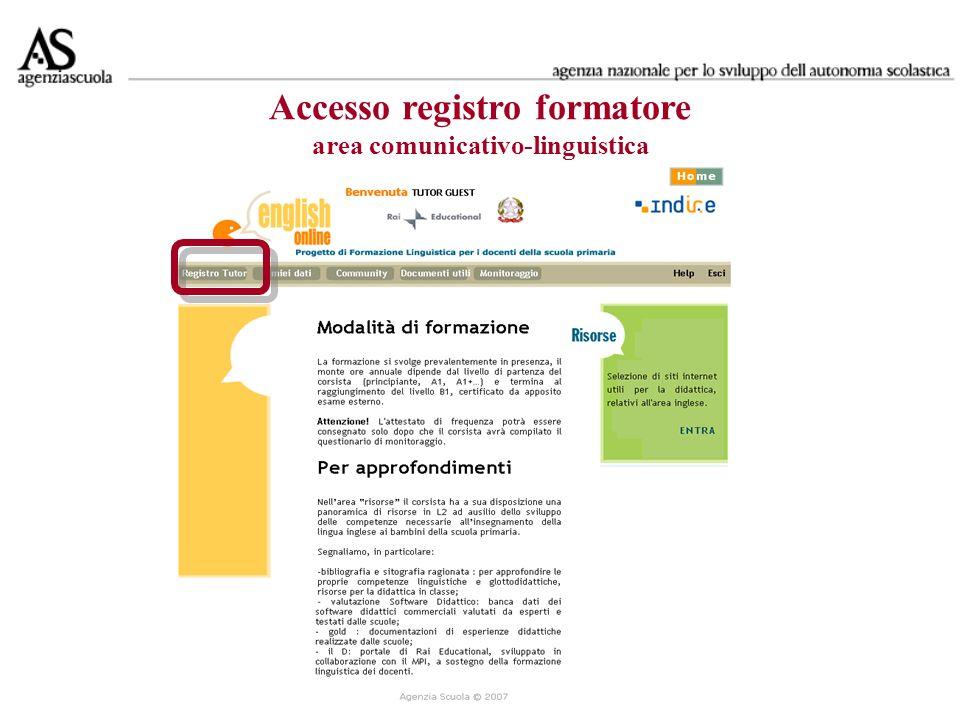 Accesso registri di classe area metodologico didattica -linguistica 2008