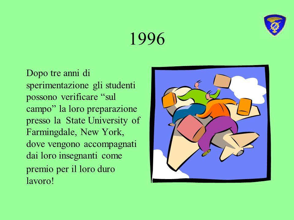 2002 febbraio attuazione delle sessioni subject specific in sei scuole delle Rete nelle ultime due settimane del mese.