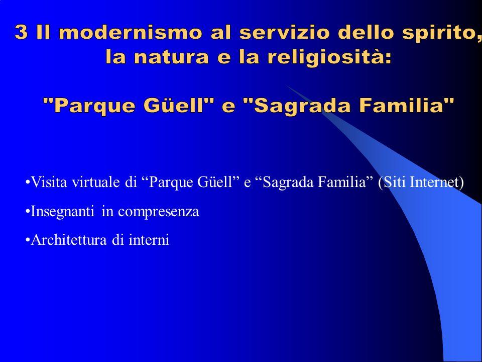 Visita virtuale di Parque Güell e Sagrada Familia (Siti Internet) Insegnanti in compresenza Architettura di interni