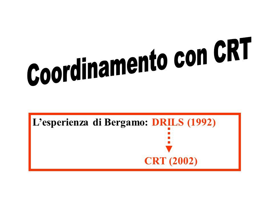 Lesperienza di Bergamo: DRILS (1992) CRT (2002)