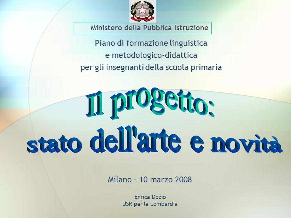Enrica Dozio USR per la Lombardia Piano di formazione linguistica e metodologico-didattica per gli insegnanti della scuola primaria Ministero della Pu