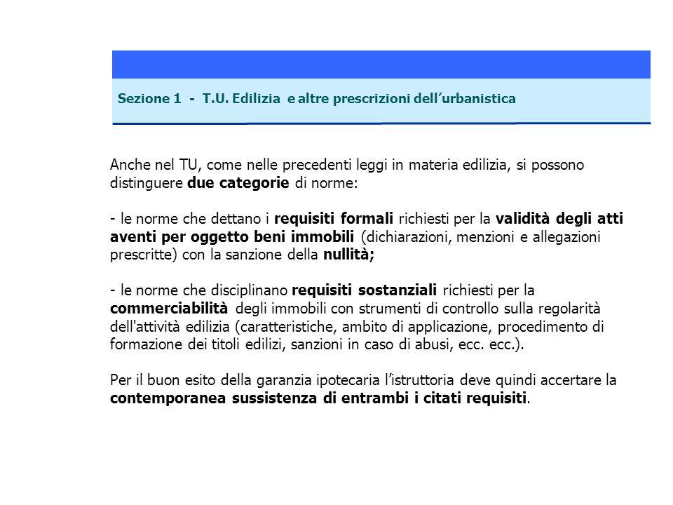 Sezione 1 - T.U.