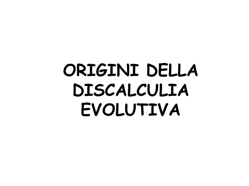 ORIGINI DELLA DISCALCULIA EVOLUTIVA