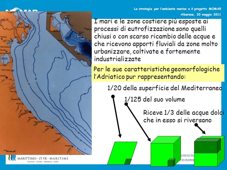 UNIONE EUROPEA UNION EUROPEENNE La strategia per lambiente marino e il progetto MOMAR Alberese, 20 maggio 2011 I mari e le zone costiere più esposte a