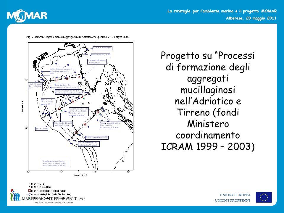 UNIONE EUROPEA UNION EUROPEENNE La strategia per lambiente marino e il progetto MOMAR Alberese, 20 maggio 2011 Progetto su Processi di formazione degl