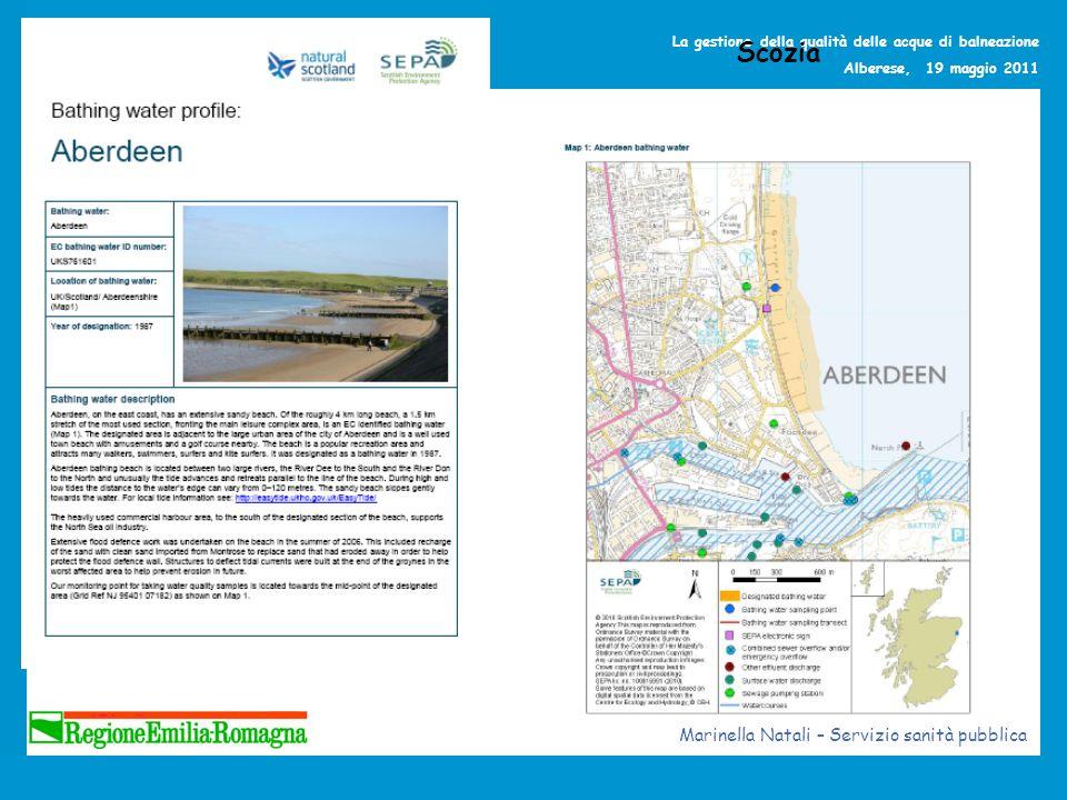 La gestione della qualità delle acque di balneazione Alberese, 19 maggio 2011 Scozia Marinella Natali – Servizio sanità pubblica