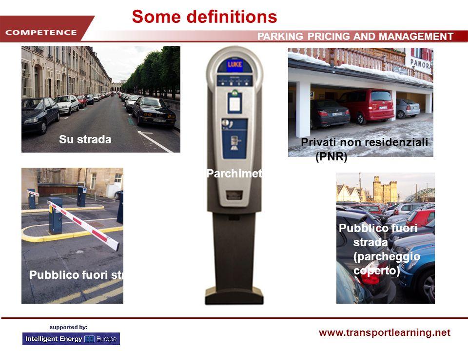 PARKING PRICING AND MANAGEMENT www.transportlearning.net Parcheggi e situazione economica Più parcheggi significa economia migliore.