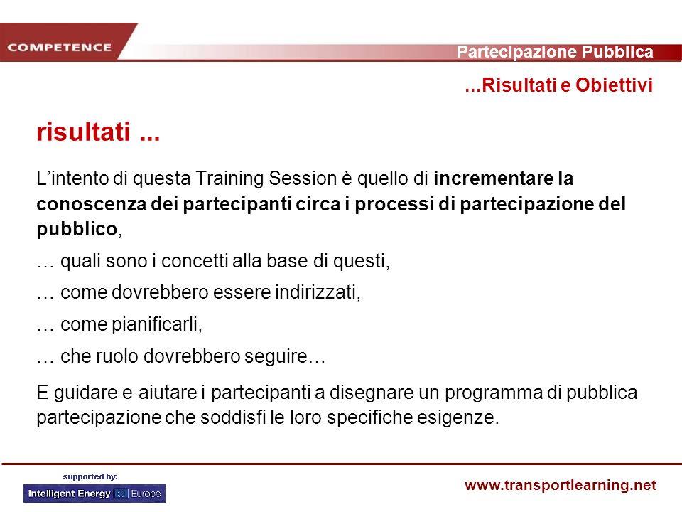 Partecipazione Pubblica www.transportlearning.net...