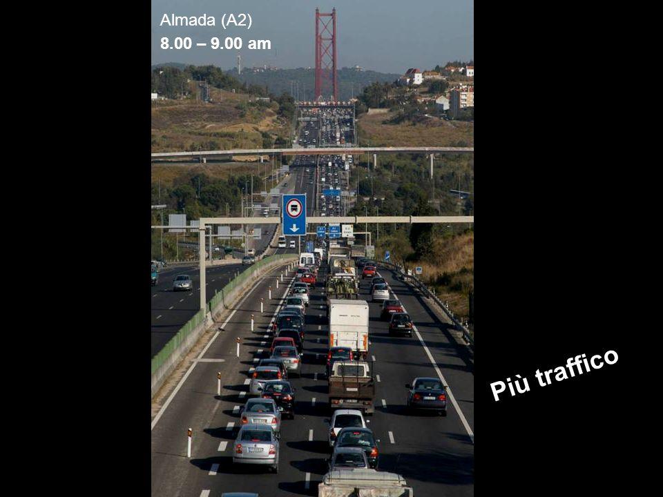 Partecipazione Pubblica www.transportlearning.net Almada (A2) 8.00 – 9.00 am Più traffico