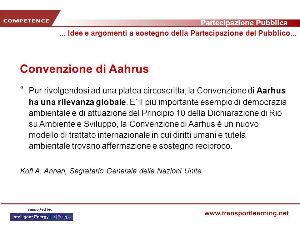 Partecipazione Pubblica www.transportlearning.net Convenzione di Aahrus...