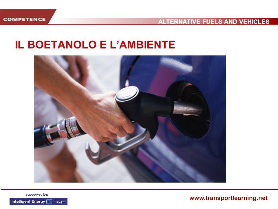 ALTERNATIVE FUELS AND VEHICLES www.transportlearning.net IL BOETANOLO E LAMBIENTE