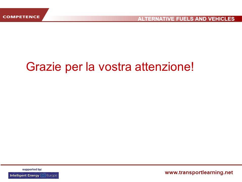 ALTERNATIVE FUELS AND VEHICLES www.transportlearning.net Grazie per la vostra attenzione!