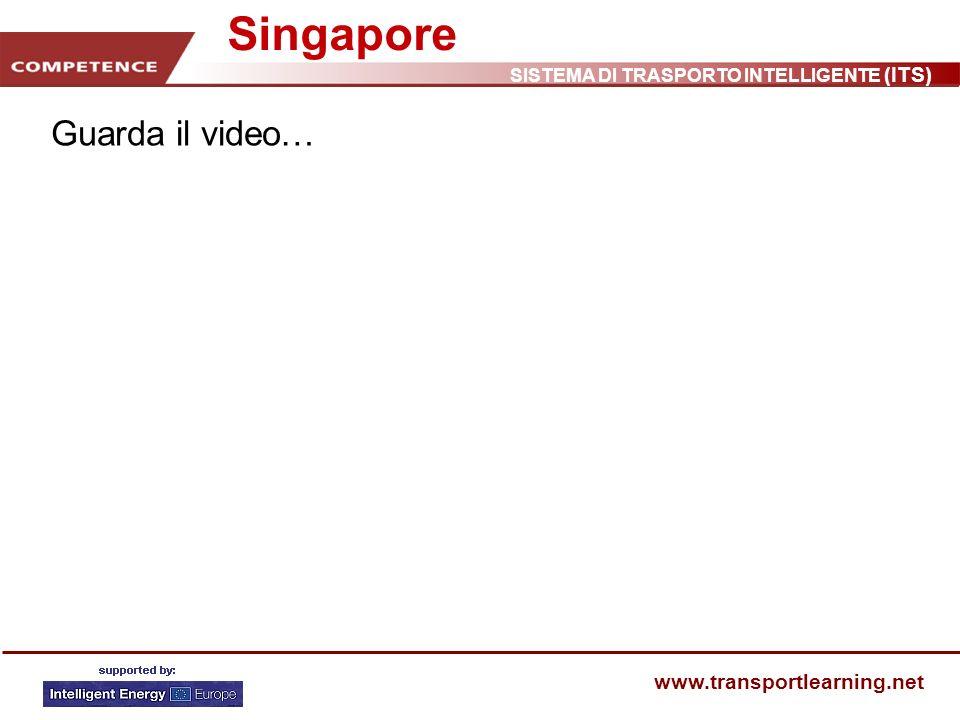 SISTEMA DI TRASPORTO INTELLIGENTE (ITS) www.transportlearning.net Singapore Guarda il video…