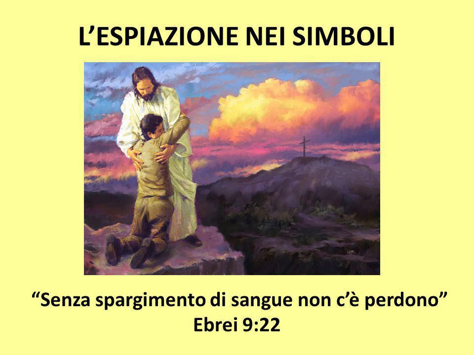LESPIAZIONE NEI SIMBOLI Senza spargimento di sangue non cè perdono Ebrei 9:22