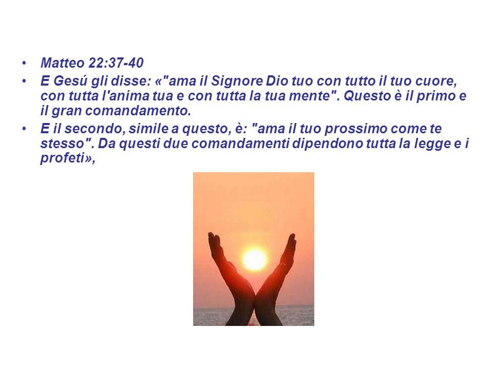 Matteo 22:37-40 E Gesú gli disse: «
