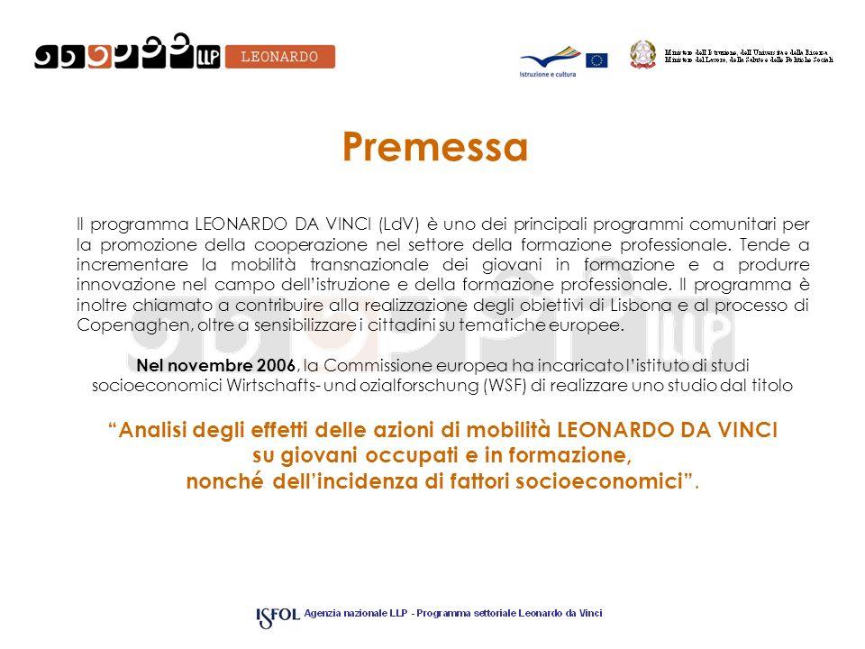 Premessa Il programma LEONARDO DA VINCI (LdV) è uno dei principali programmi comunitari per la promozione della cooperazione nel settore della formazione professionale.