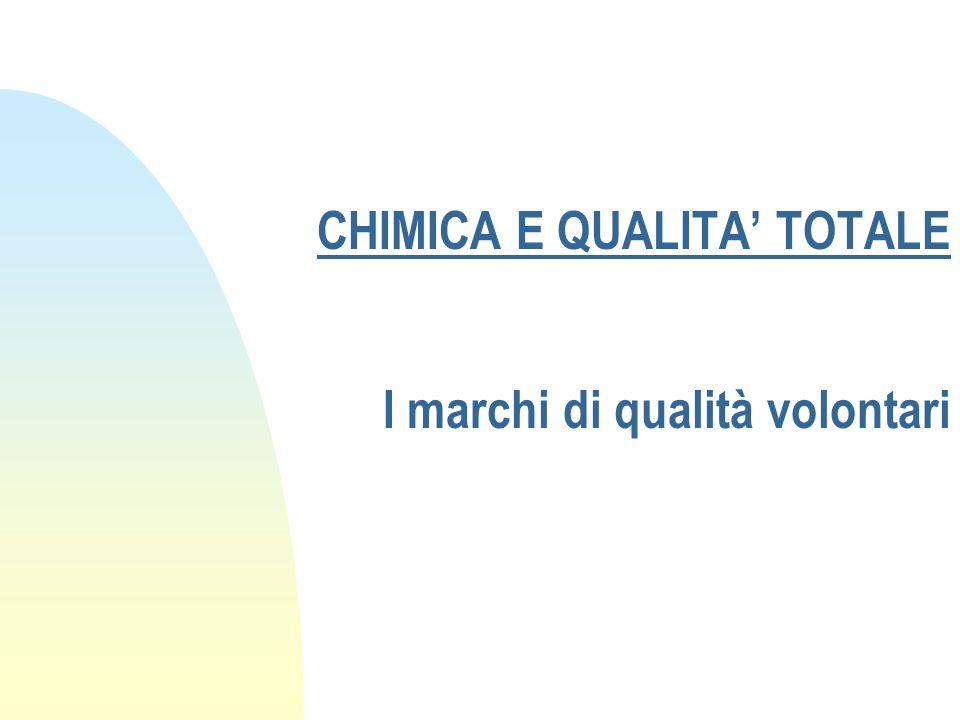 CHIMICA E QUALITA TOTALE I marchi di qualità volontari