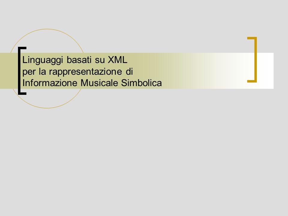 Linguaggi basati su XML per la rappresentazione di Informazione Musicale Simbolica