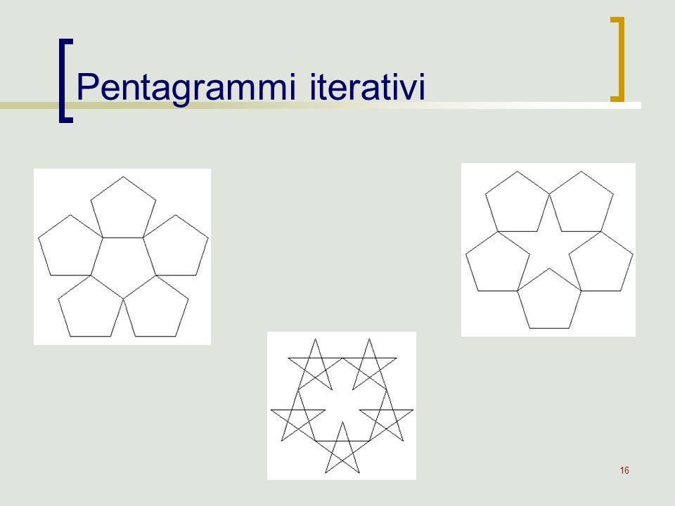 16 Pentagrammi iterativi