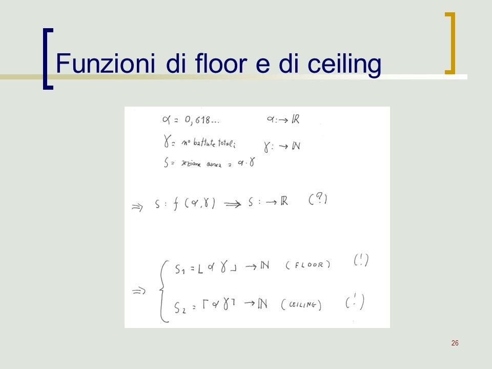 26 Funzioni di floor e di ceiling