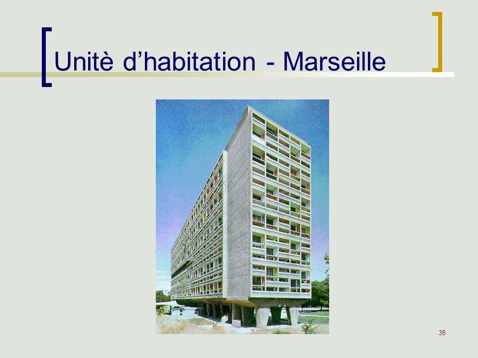 38 Unitè dhabitation - Marseille
