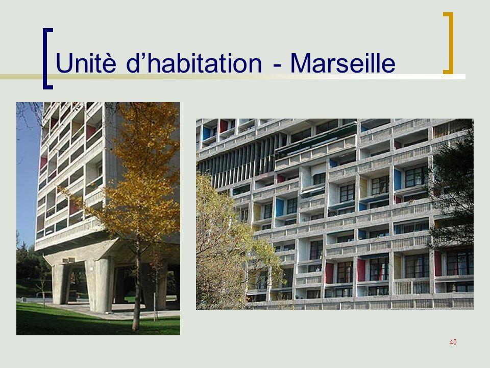 40 Unitè dhabitation - Marseille