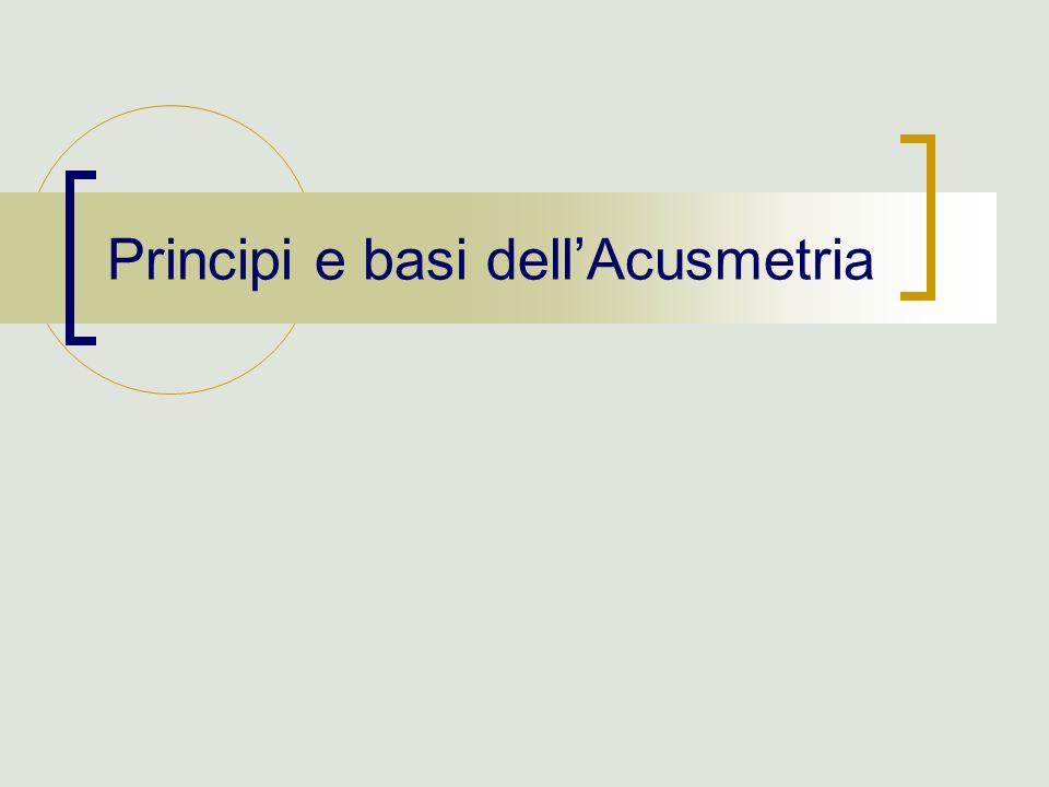 Principi e basi dellAcusmetria