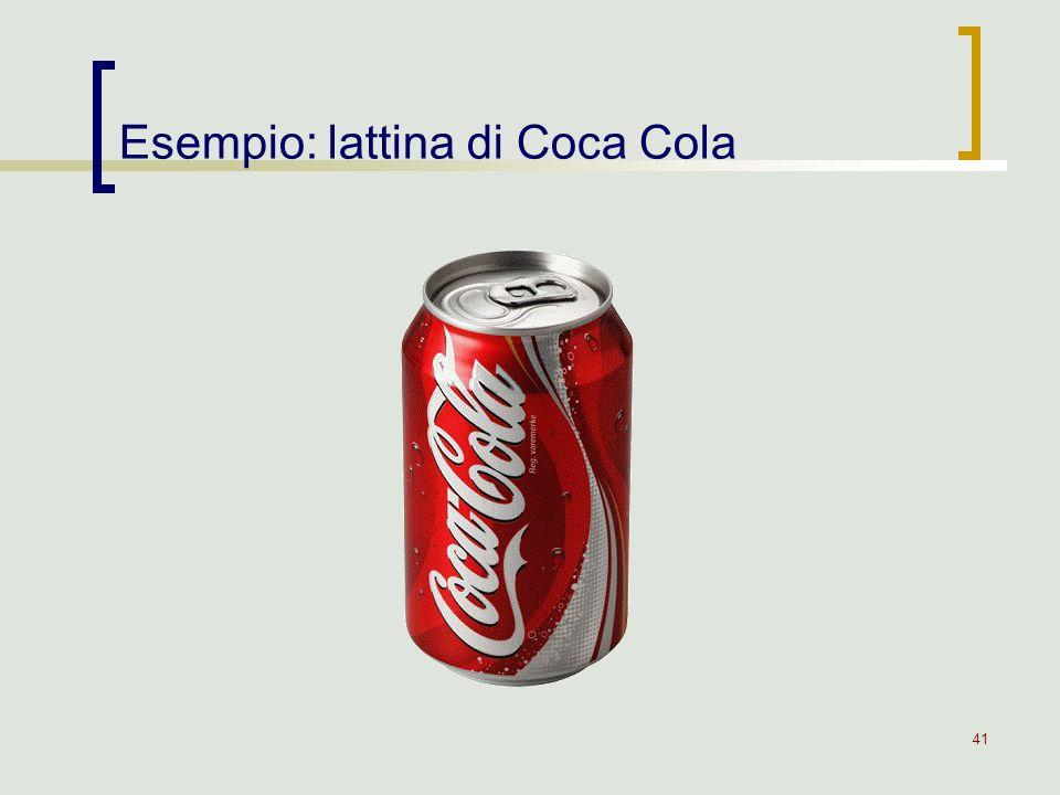 41 Esempio: lattina di Coca Cola