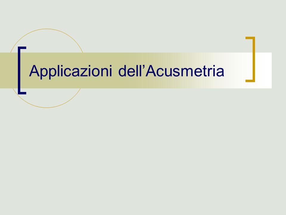 Applicazioni dellAcusmetria