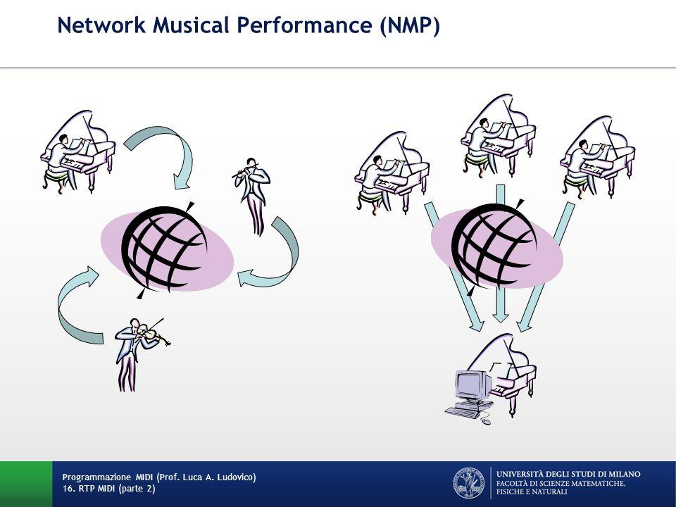 Network Musical Performance (NMP) Programmazione MIDI (Prof. Luca A. Ludovico) 16. RTP MIDI (parte 2)