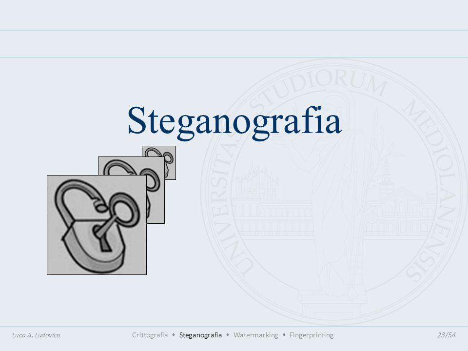 Steganografia Luca A. Ludovico Crittografia Steganografia Watermarking Fingerprinting23/54