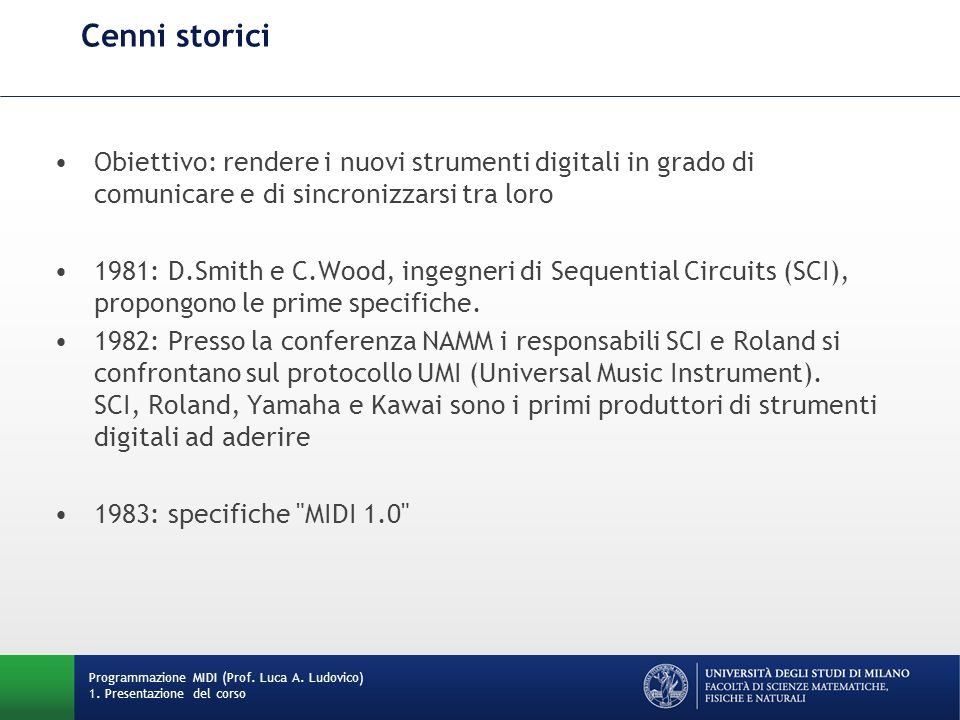 SCI Prophet 600 Programmazione MIDI (Prof.Luca A.