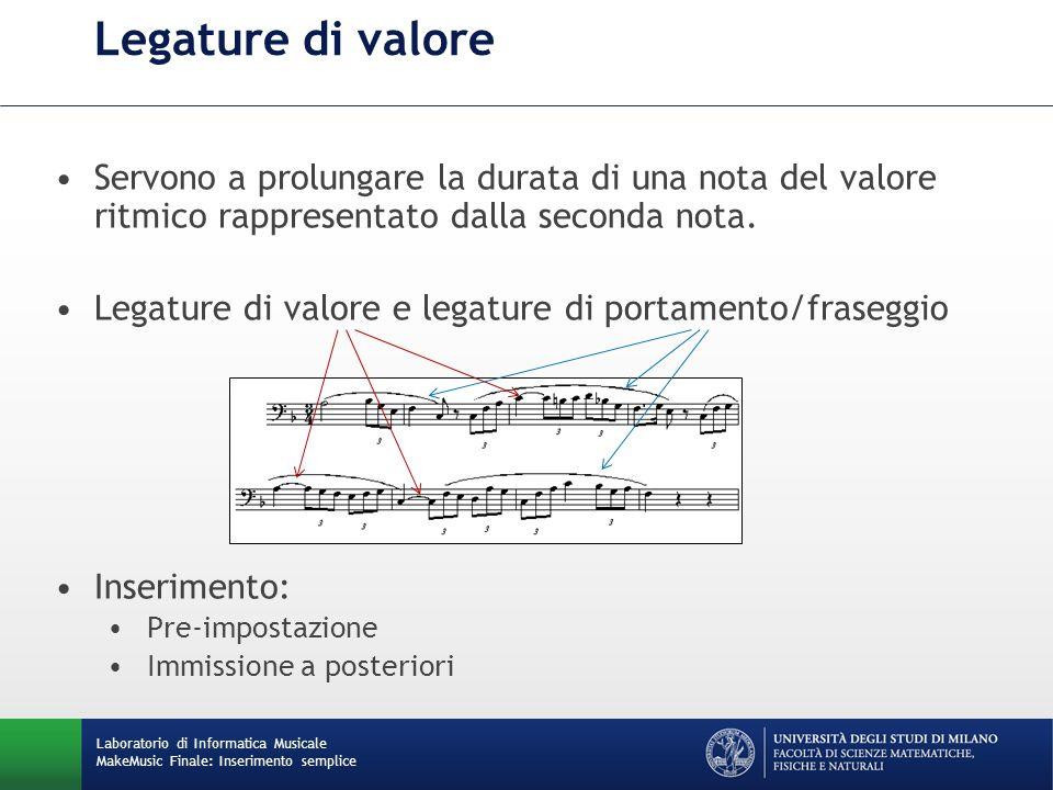 Scrittura e cancellazione di accordi Inserimento di note contemporanee con lo stesso valore ritmico.
