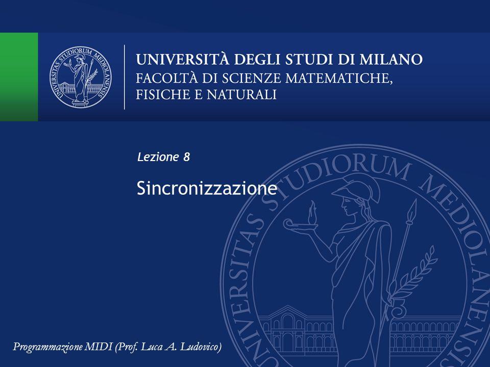 Sincronizzazione Lezione 8 Programmazione MIDI (Prof. Luca A. Ludovico)