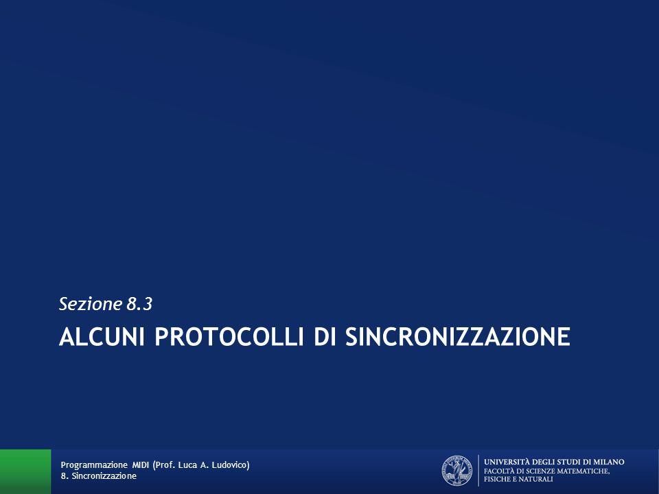ALCUNI PROTOCOLLI DI SINCRONIZZAZIONE Sezione 8.3 Programmazione MIDI (Prof. Luca A. Ludovico) 8. Sincronizzazione