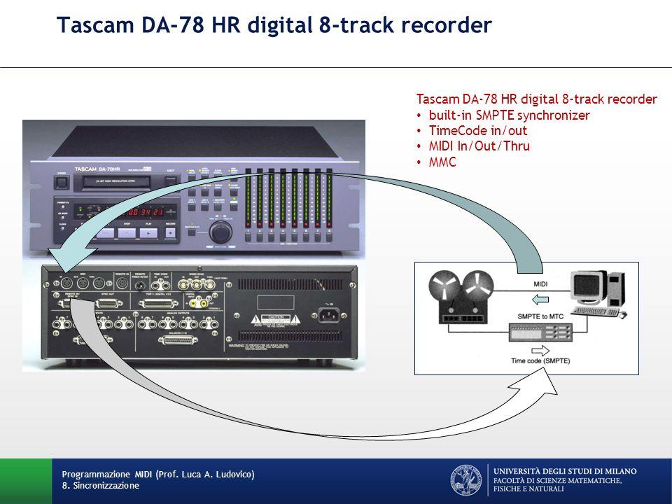 Tascam DA-78 HR digital 8-track recorder Programmazione MIDI (Prof. Luca A. Ludovico) 8. Sincronizzazione Tascam DA-78 HR digital 8-track recorder bui
