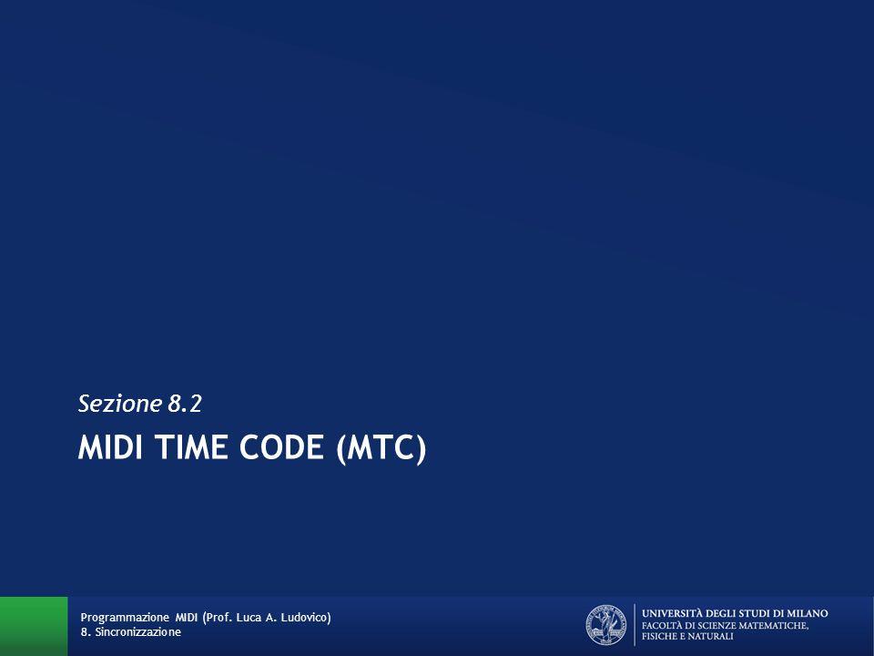 Esempi ed esercizi su MTC Quanti frame SMPTE scorrono mentre viene inviata una informazione temporale completa con MTC.