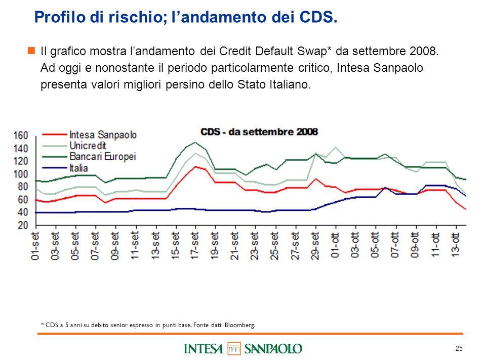 25 Profilo di rischio; landamento dei CDS.