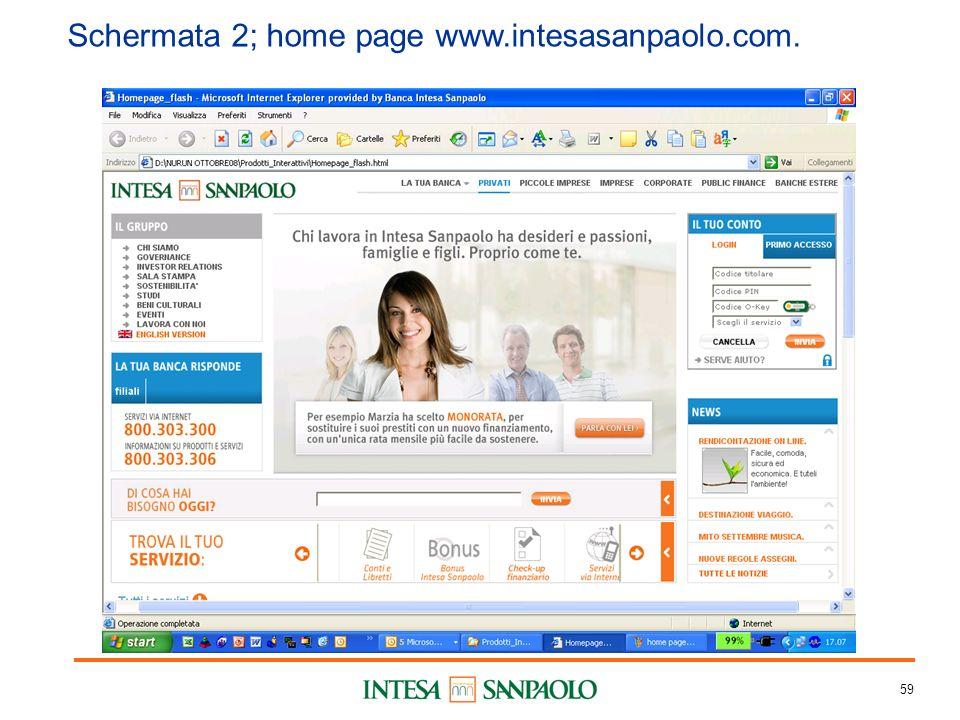 59 Schermata 2; home page www.intesasanpaolo.com.