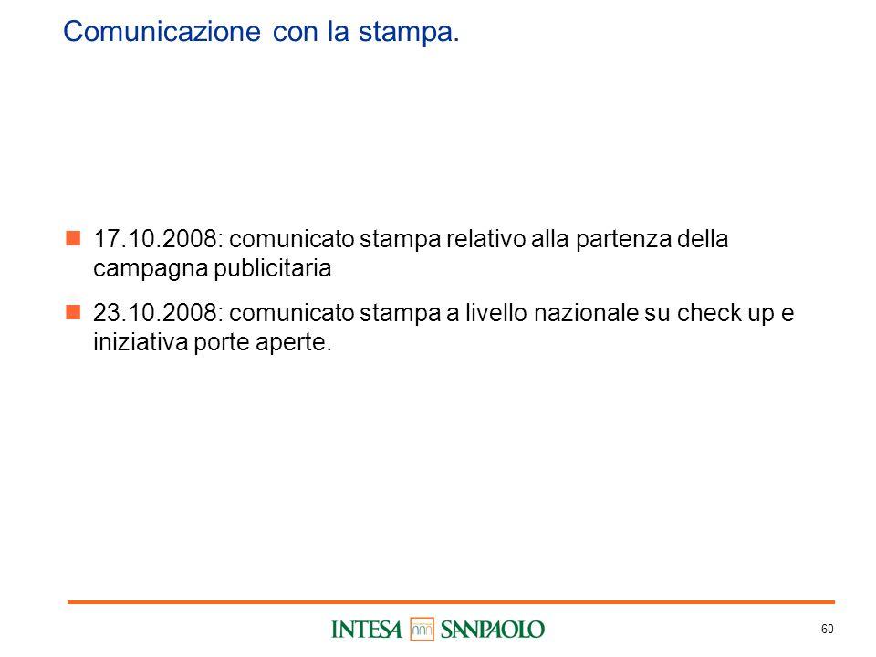 60 Comunicazione con la stampa.