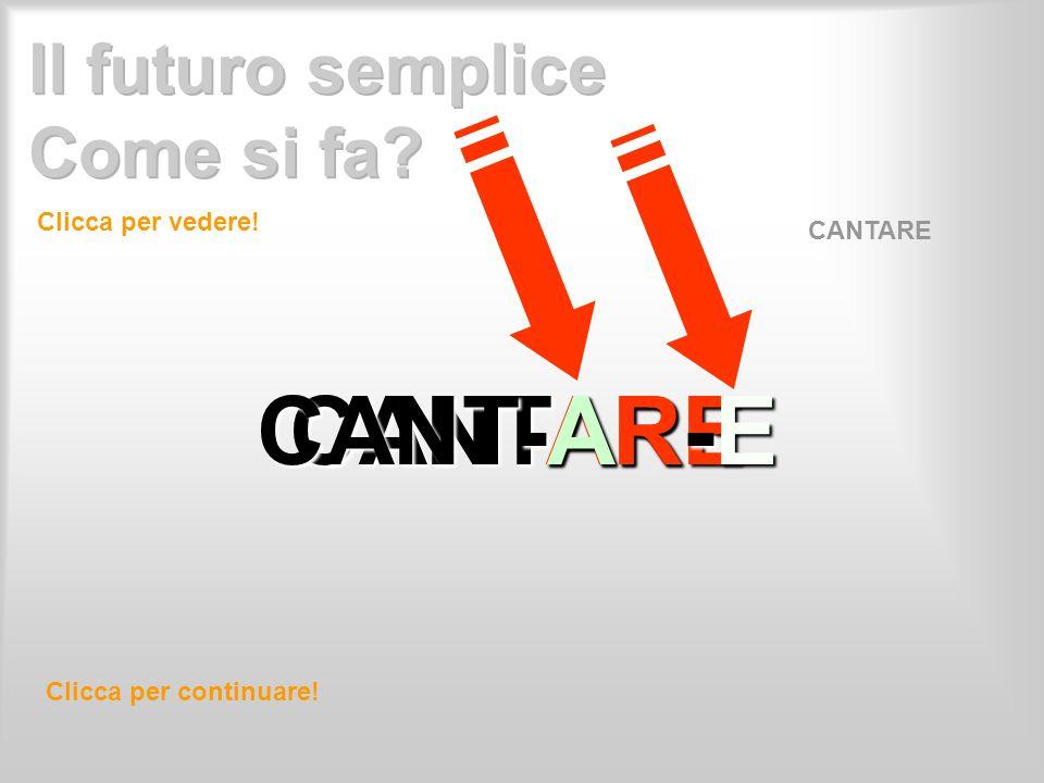 CANTARE CANT-AR-E Clicca per vedere! Clicca per continuare! CANTARE