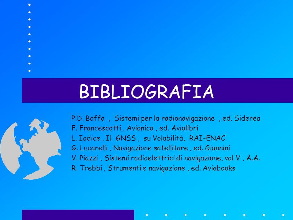 BIBLIOGRAFIA P.D. Boffa, Sistemi per la radionavigazione, ed.