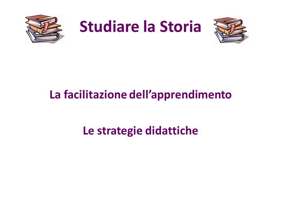 Studiare la Storia La facilitazione dellapprendimento Le strategie didattiche