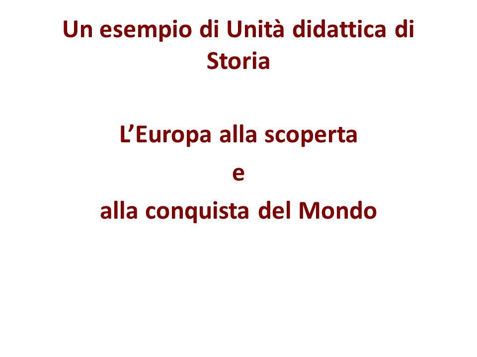 Un esempio di Unità didattica di Storia LEuropa alla scoperta e alla conquista del Mondo