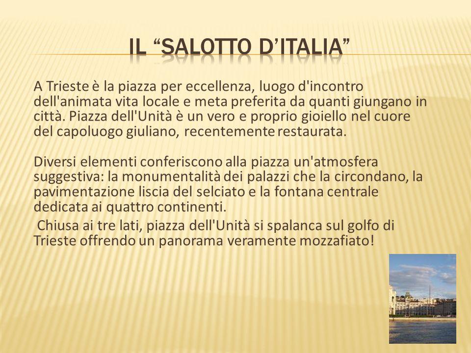 A Trieste è la piazza per eccellenza, luogo d'incontro dell'animata vita locale e meta preferita da quanti giungano in città. Piazza dell'Unità è un v