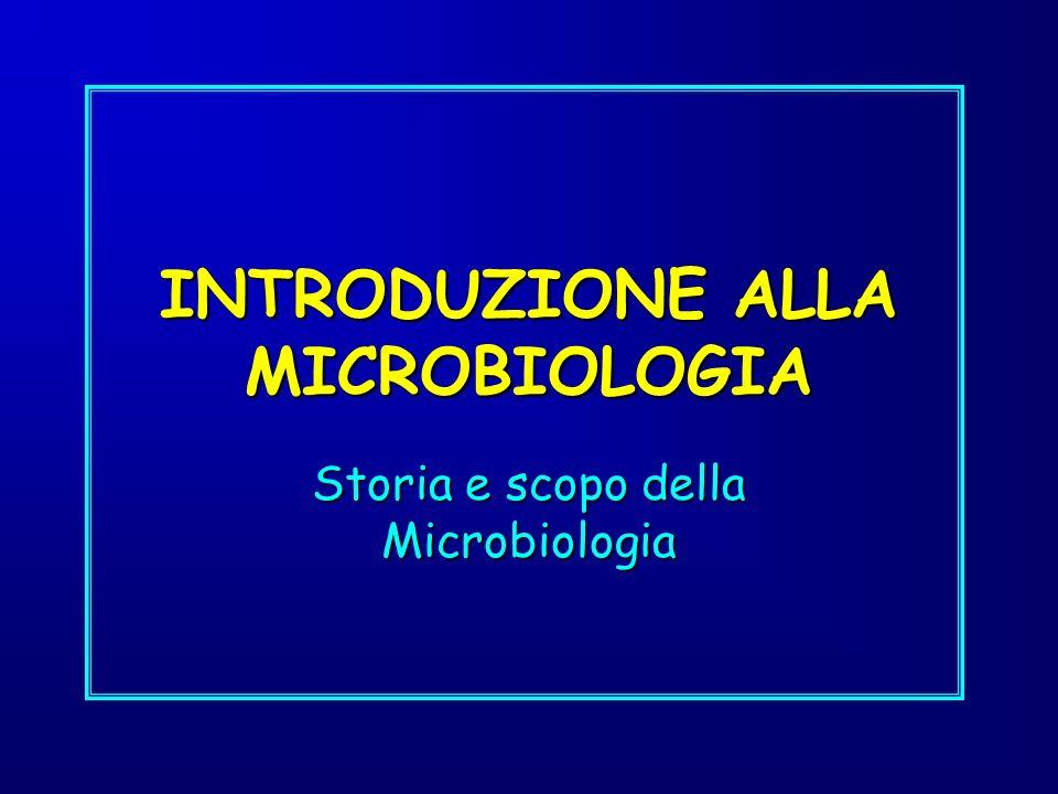 Definizione La Microbiologia è la scienza che studia i microrganismi e la loro attività.